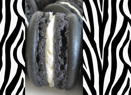 my sweet wild thing – black sesame macarons