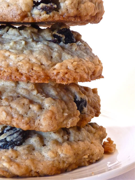 a moment to reflect – rum-raisin oatmeal cookies