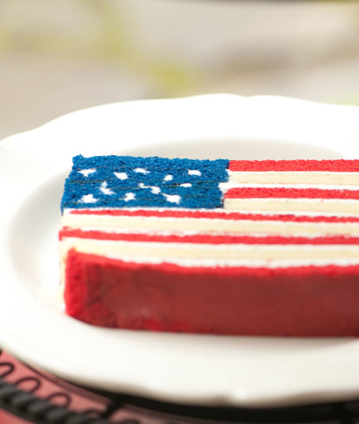 Hungry Rabbit – American Flag Cake