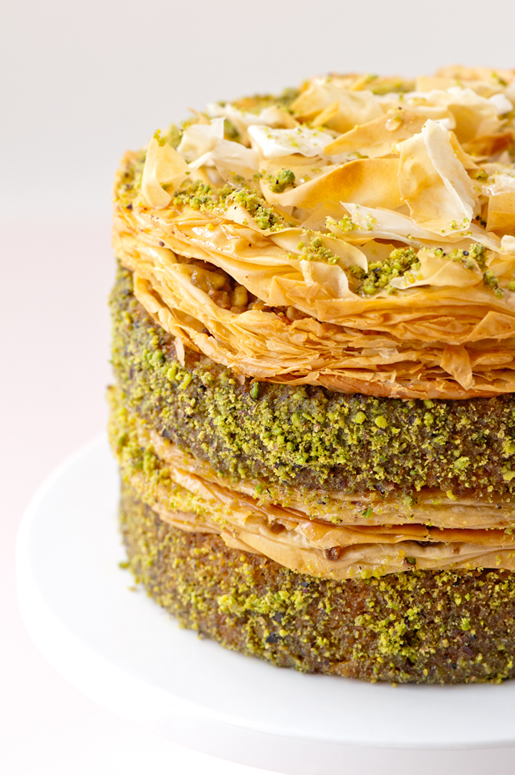 Pistachio Baklava Cake | Hungry Rabbit