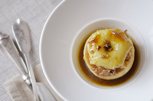 heart warming party — baked apples w cider-rum sauce