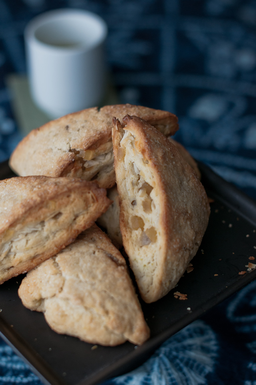 tea for two — ginger-lime coconut scones
