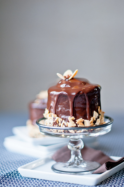 for my father – chocolate cake w almond cream filling