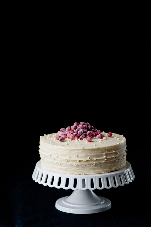 wrapped up – white chocolate cranberry cake