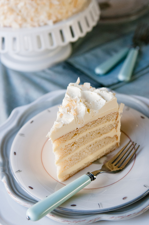 singular sensation – coconut cream cake