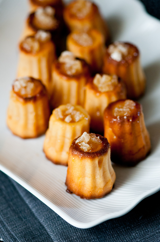 on snake and tradition – ginger 'nian gao' aka ginger mochi cannelés (gluten free)