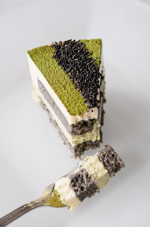 Matcha Goma Mousse Cake Hungry Rabbit