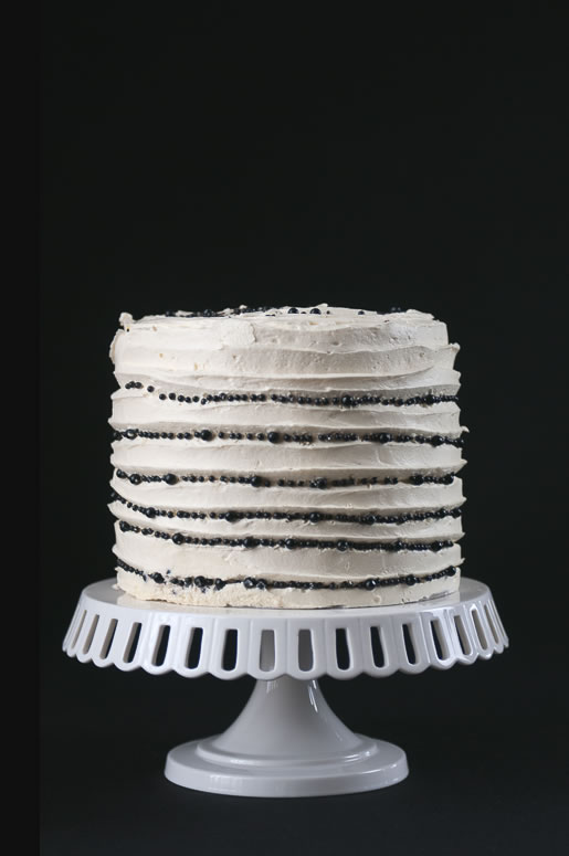 getting the party started – black & white cake