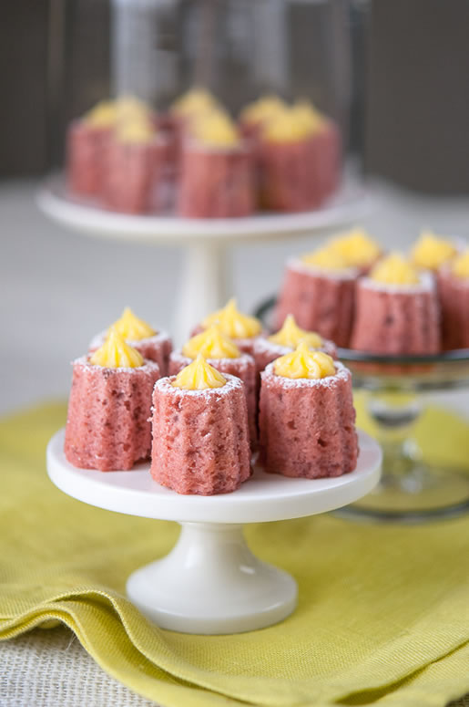 Petite Strawberry Cakes w Meyer Lemon Curd