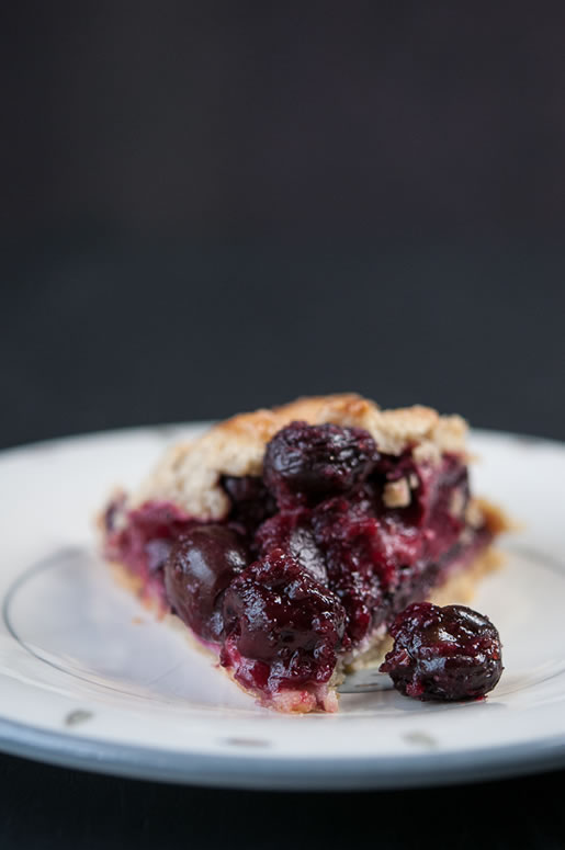 Ginger Cherry Plum Galette