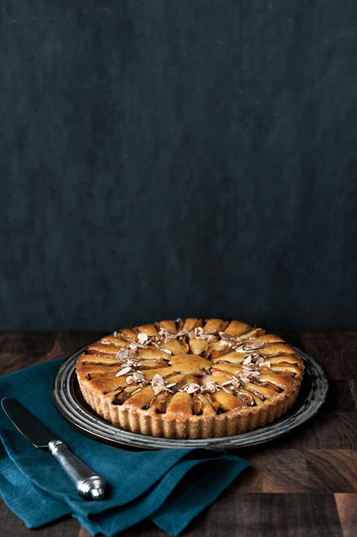 gift of nothing – french plum tart
