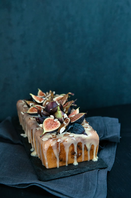 loafing – fig almond tea cake w coconut-honey glaze