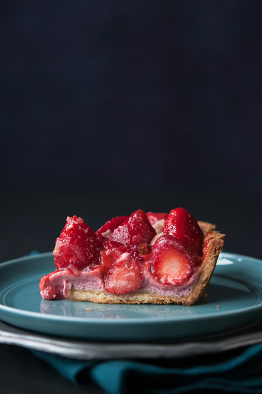 so berry – fresh strawberry cream pie